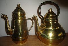 Online veilinghuis Catawiki: Mécap - koperen koffiepot en ketel met tinnen binnenkant - België - eerste helft 20e eeuw,
