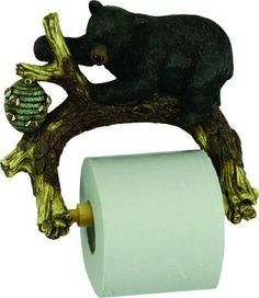 Bear On Tree Toilet Paper Holder Unique Toilet Paper Holder, Paper Holders, Bear, Gifts, Home Decor, House, Presents, Decoration Home, Room Decor