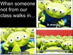 This is like every time a new cute guy walks into UBand....lol