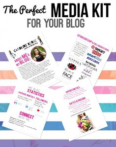 The Perfect Media Kit for your Blog - Caroline Renae