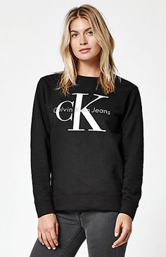Calvin Klein creates a classic look that perfectly captures the brand's  aesthetic in the Vintage Logo Crew Neck Sweatshirt. Available in several  colors, ...