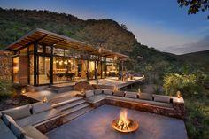 Marataba Trails Lodge is a unique luxury safari lodge specializing in walking safaris in a Big Five game area.