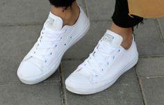 White Converse all White