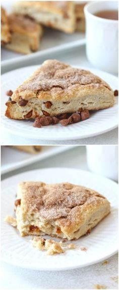 Cinnamon Scone Recipe on twopeasandtheirpod.com Love these sweet cinnamon scones!