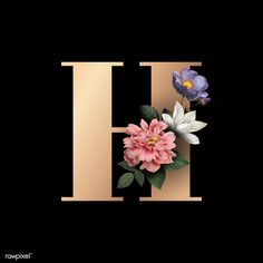 Search Free and Premium stock photos, vectors and psd mockups Flowers Black Background, Flower Background Wallpaper, Flower Backgrounds, Wallpaper Backgrounds, Purple Wallpaper, Colorful Wallpaper, Letter H Design, Alphabet Design, Floral Font