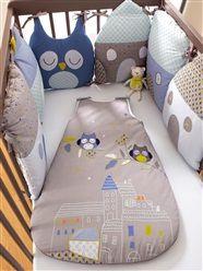 Protector de cuna modulable bebé tema Nocturno