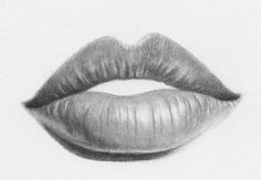 Delineate Your Lips how to draw lips step by step 12 - How to draw lips correctly? The first thing to keep in mind is the shape of your lips: if they are thin or thick and if you have the M (or heart) pronounced or barely suggested. Pencil Art Drawings, Realistic Drawings, Art Drawings Sketches, Easy Drawings, Realistic Eye, Charcoal Drawings, Painting & Drawing, Teeth Drawing, Drawing Hair