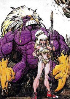 The Maxx & Julie by Arthur Adams Comic Movies, Comic Book Characters, Comic Character, Comic Books Art, Character Design, Comic Manga, Anime Comics, The Maxx, Alternative Comics