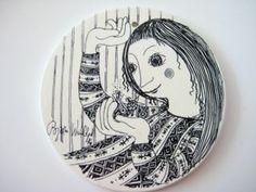 Jane Foster Blog: Danish Bjorn Wiinblad ceramic picture