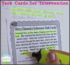 """Advanced Reading Intervention Plans. How I use task cards to meet the needs of all learners...even the """"advanced"""" ones. Reading Lessons, Reading Strategies, Reading Skills, Reading Groups, Study Skills, Life Skills, Reading Intervention, Teaching Reading, Reading Comprehension"""