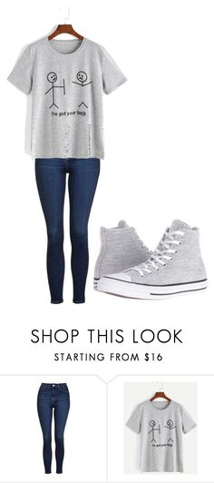 """""""Untitled #289"""" by thenerdyfairy on Polyvore featuring Topshop and Converse"""