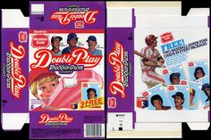 Meadow Gold - Double Play Bubble Gum Cooler Ice Cream bar box with Baseball Super Stars Cards - 1986 | by JasonLiebig