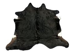 D168 Black Cowhide Rug Gorgeous Brazilian Natural by Cowhidesusa