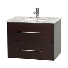Wyndham Collection Centra 30 in. Vanity in Espresso with Marble Vanity Top in Carrara White and Undermount Sink-WCVW00930SESCMUNSMXX - The Home Depot