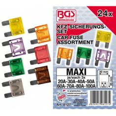 Surtido 24 Maxi fusibles de automoción www.motortool.es