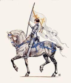 Joan of Arc - gouache by Elizabeth Alger
