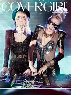 COVERGIRL nails beauty-with-an-edge mantra by signing hot female DJ duo NERVO - trendsetting sisters lend pop-culture prowess and cutting-edge beauty that's always on beat.
