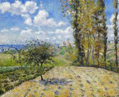 """Camille Pissarro (1830-1903) ~ """"Pontoise, Vue sur la Nouvelle Prison, Printemps"""" ~ Huile sur Toile 60 x 74cm"""