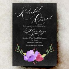 Wedding Invitation  Watercolor wedding by DivineGiveDigital, $21.00