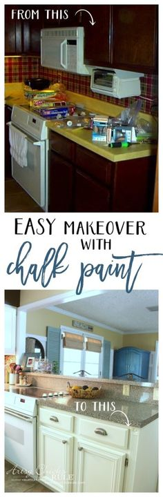 EASY Kitchen Cabinet Makeover with Chalk Paint - artsychicksrule.com