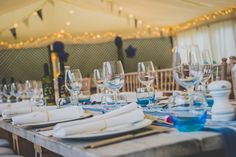 Table Settings For Wedding Breakfast - The Gallivant Hotel, Camber - East Sussex Wedding Photographer