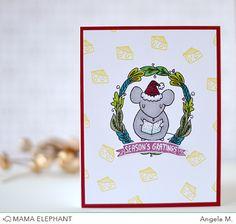 mama elephant | design blog: INTRODUCING: Festive Mice + Window Watching CC