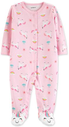 Carters Carter-Baby-Mädchen Einhorn-Print-Baumwolle Overall Baby Outfits, Newborn Girl Outfits, Toddler Outfits, Baby Girls, Baby Girl Pajamas, Baby Boy, Baby Girl Leggings, Baby Girl Pants, Carters Baby Clothes