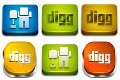 Power Up Your Digg Icons - Artwork by Artbees Social Network Icons, Artwork, Work Of Art, Auguste Rodin Artwork, Artworks, Illustrators