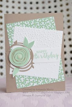 Card using stampin up Swirly Bird - Scribbles bundle from 2016-17 annual catalogue