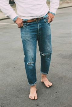 """Levi's / """"When they get to this point they're at, I would often make cut-offs. Not with these. I've had them too long."""""""