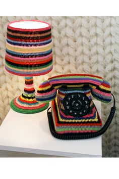 Do Knit Disturb room at the Hotel Pelirocco, a funky B in the coastal Brighton. by Kate Jenkins, Lampe Crochet, Knit Crochet, Crochet Style, Yarn Bombing, Guerilla Knitting, Cotton Cord, Yarn Crafts, Chanel Boy Bag, Textile Art