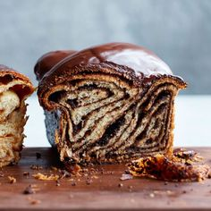 """foodandwine: """"© Con Poulos Over-the-Top Dessert: This amazing chocolate babka from pastry chef Melissa Weller at Sadelle's in New York City gets extra flavor in the swirl from chocolate cookie crumbs. As a bonus, the tender-crumbed babka is topped. Chocolate Wafer Cookies, Chocolate Deserts, Chocolate Wafers, Chocolate Recipes, Chocolate Glaze, Molten Chocolate, Chocolate Custard, Almond Cookies, Gastronomia"""