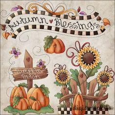 Autumn Blessings 2 Clip Art Set