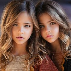 A Couple Gave Birth to the Most Beautiful Twins Ever, See Where They Are Now Young Models, Child Models, Beautiful Family, Most Beautiful, Frugal Male Fashion, Cute Makeup Looks, Cult Following, Longer Eyelashes, These Girls