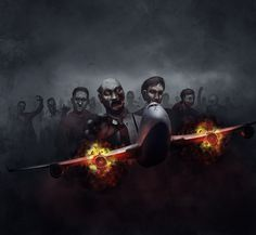 Zombies on a Plane by adamdawidowicz.deviantart.com on @deviantART