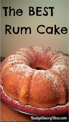 This rum cake is simply amazing. Done in about 2 hours. Yum! Food Cakes, Cupcake Cakes, Bundt Cakes, Cupcakes, Köstliche Desserts, Dessert Recipes, Recipes Dinner, Best Rum Cake Recipe, Good Rum
