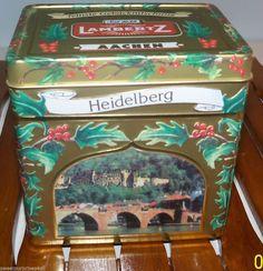 German Tin Music Box Lambertz Berlin Germany PLAYS We Wish You A Merry Christmas