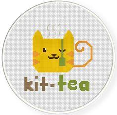 (10) Name: 'Embroidery : Kit-Tea Cross Stitch Pattern