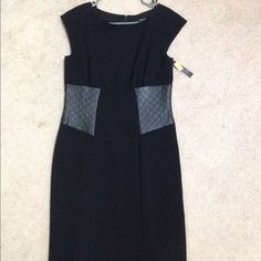 Alex Marie Size 8 NWT Black Dress NWT Black dress with quilting on side Alex Marie Dresses