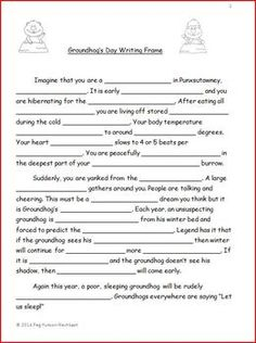 GROUNDHOG'S DAY WRITING FRAME: FREEBIE