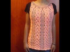 Blusa a crochet parte #2 Todas las tallas - YouTube