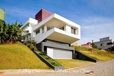 Construindo Minha Casa Clean: Fachadas de Casas em Terrenos em Aclive e Estreitos!