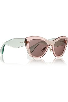 Miu Miu|Two-tone cat eye acetate sunglasses|NET-A-PORTER.COM