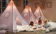 pink tent girls canopy_