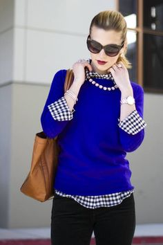 Outfits con color azul rey                                                                                                                                                                                 Más