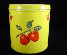 1930's Decoware Apples Canister