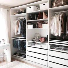 37 ideas for bedroom wardrobe storage ikea pax closet system Ikea Pax Wardrobe, Ikea Closet, Wardrobe Closet, Wardrobe Ideas, Closet Ideas, Walk In Wardrobe Inspiration, Capsule Wardrobe, Closet Wall, Closet Redo