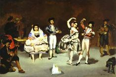 The spanish ballet by @artistmanet #realism