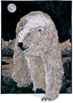 """*Art Quilt - """"Polar Prowler"""" by Patricia M. Goffette"""
