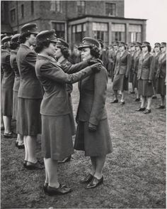 Pinning on the Bars after United States Marine Corps Commissioning, ca. 1943-1944 :: Archives & Special Collections Digital Images